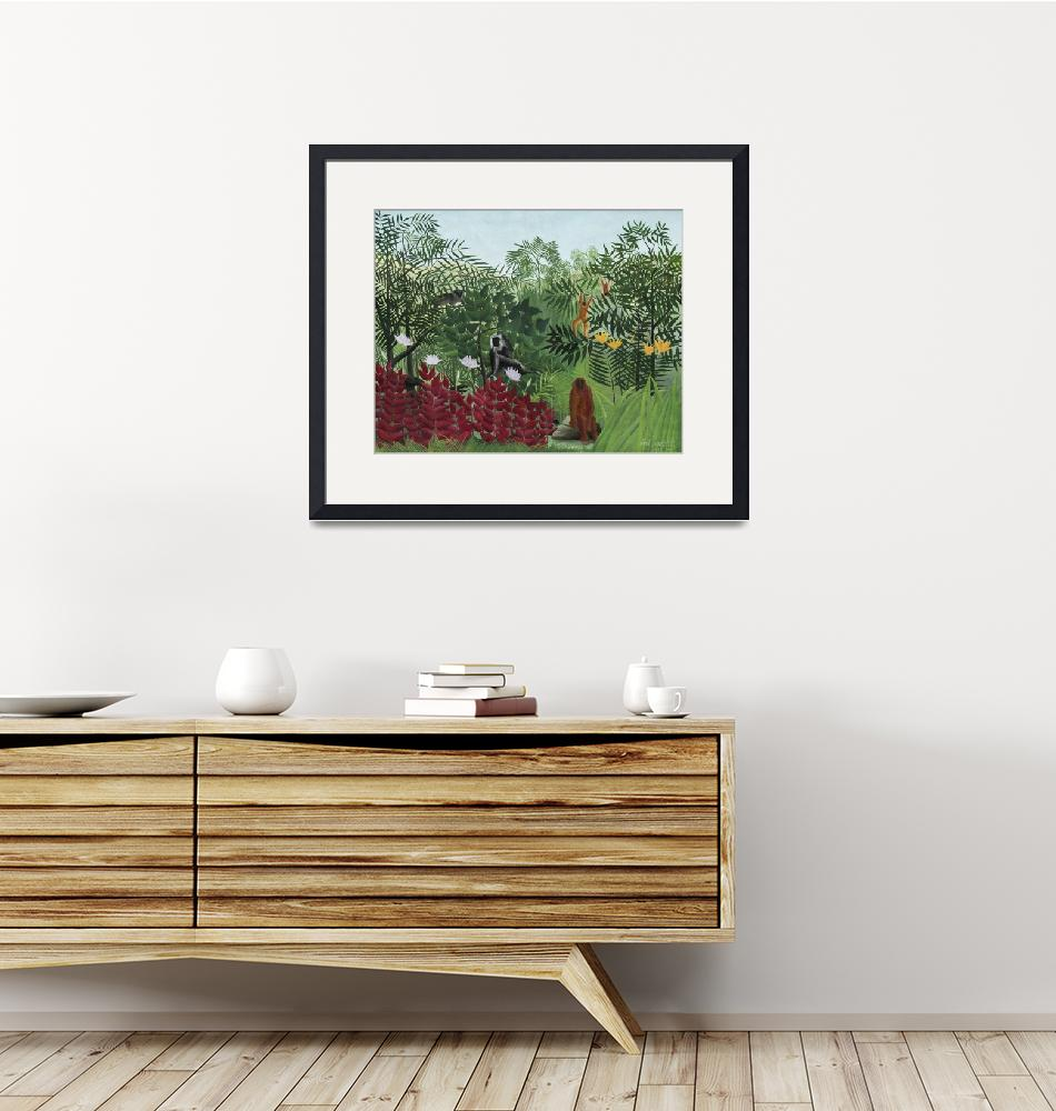 """""""Tropical Forest with Monkeys by Henri Rousseau""""  by FineArtClassics"""