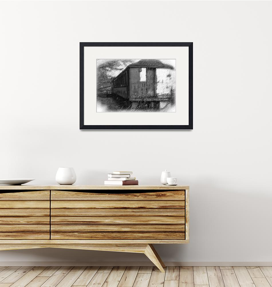 """""""The Old Train Car""""  (2015) by Kirtdtisdale"""