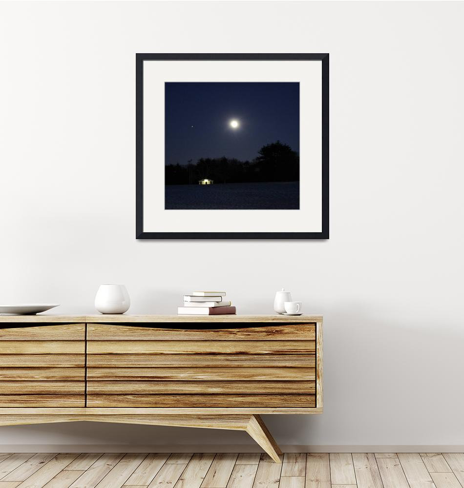 """""""Mars and the Moon over Waveny""""  (2011) by Xine"""