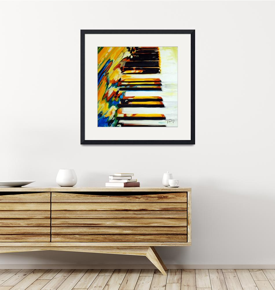 """""""JAZZ PIANO ABSTRACT""""  (2011) by MBaldwinFineArt2006"""