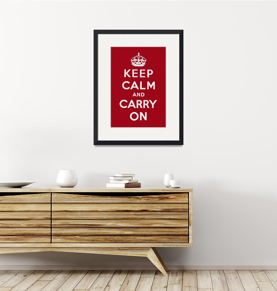 """Red Keep Calm And Carry On 1""  by oldies"