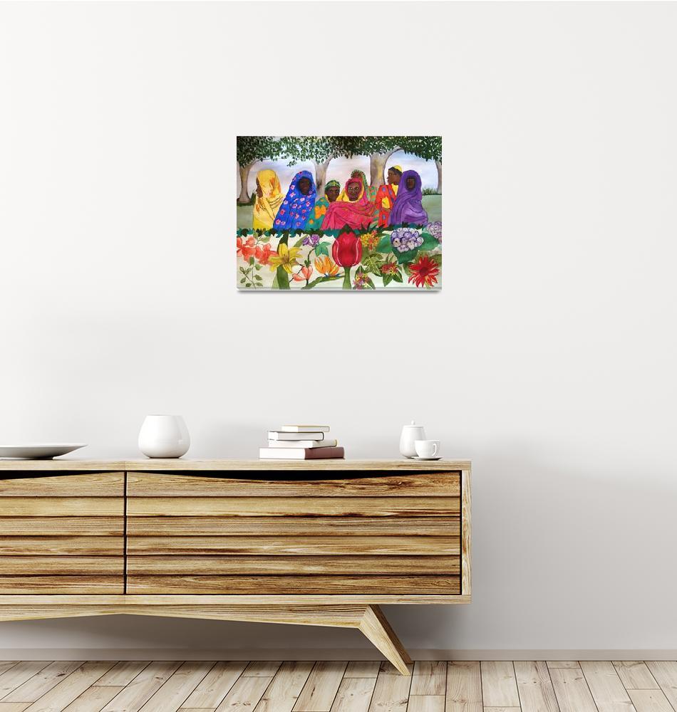 """Women of Sudan by Flowers""  by Christella"