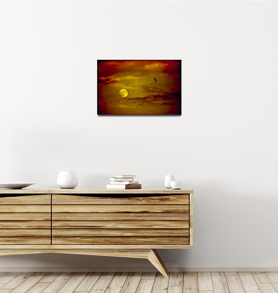 """""""Full Moon, Red Sky""""  (2011) by mgarrido"""