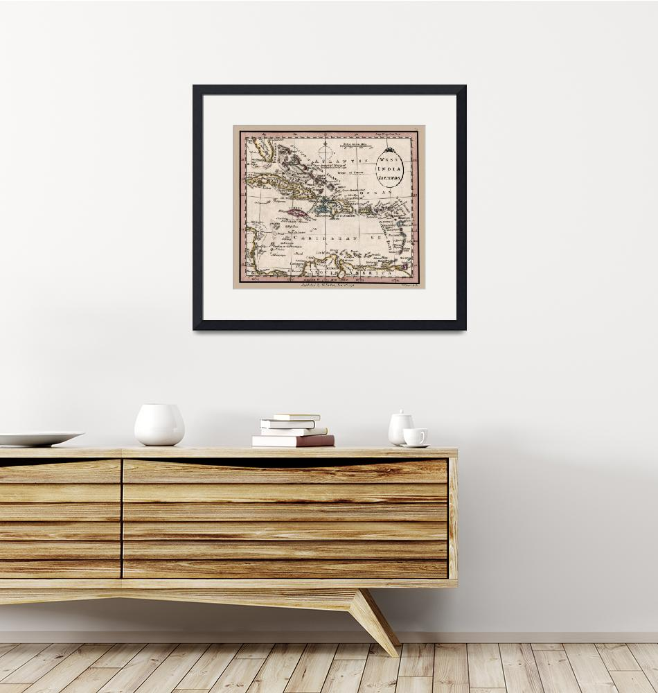 """""""West India Islands Map 1798""""  (2020) by WilshireImages"""