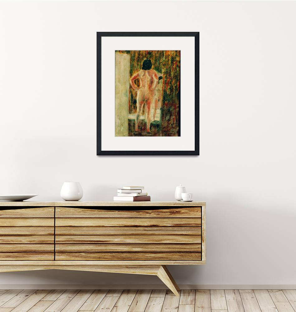 """""""Nude in front of the mirror""""  (1996) by Artshedbg"""