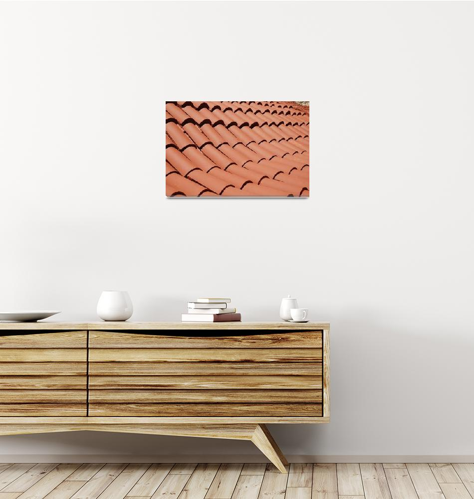 """Monastery roof tiles, Tilos""  (2018) by DavidFowler"