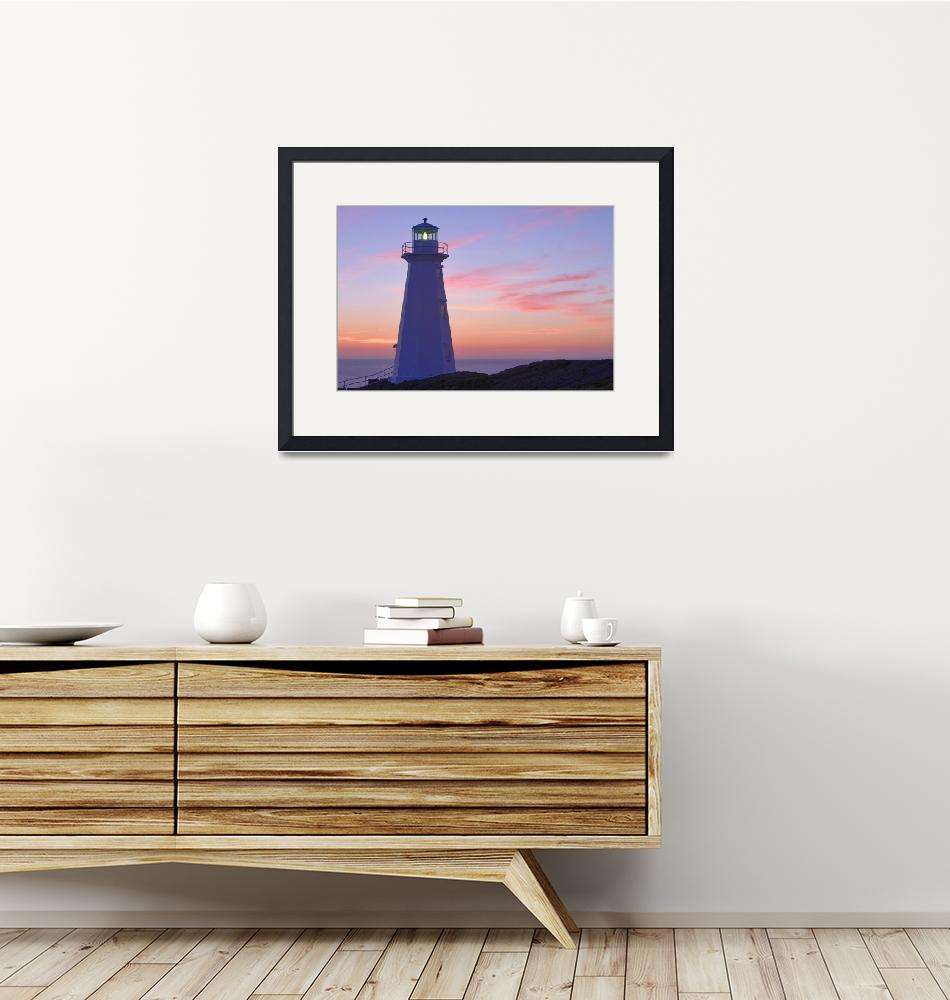 """Cape Spear Lighthouse At Dawn, Avalon Peninsula, N""  by DesignPics"