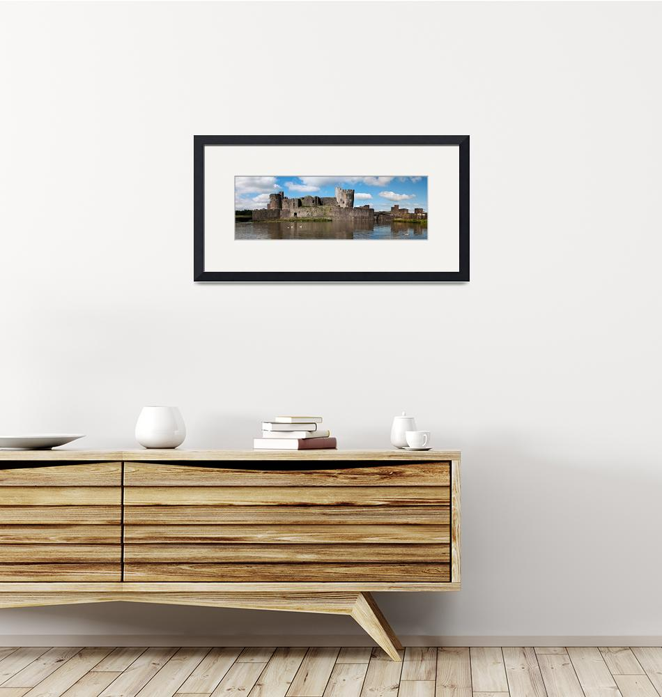 """""""Caerphilly Castle Panorama""""  by StevePurnell"""