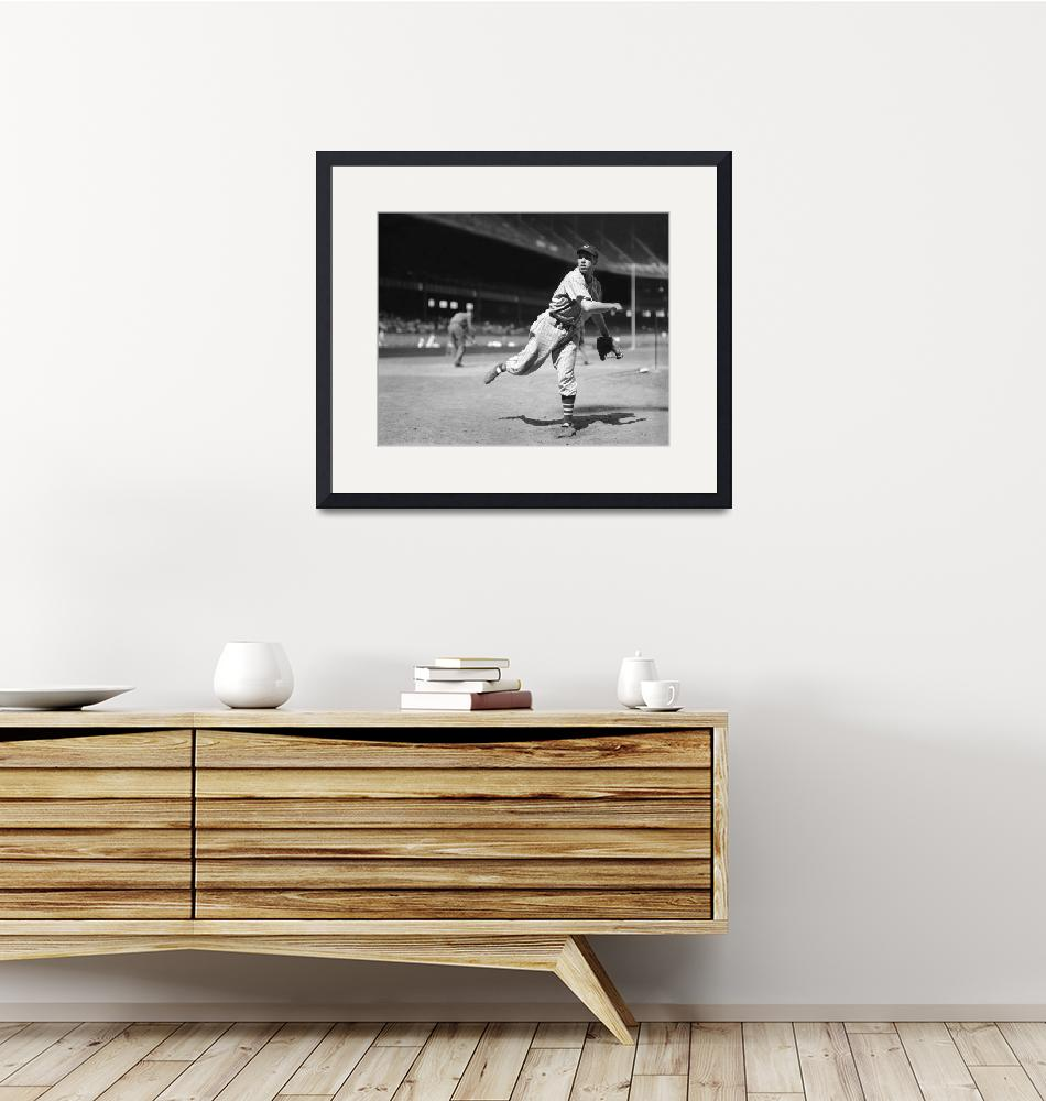"""""""Bob Feller pitches""""  by RetroImagesArchive"""
