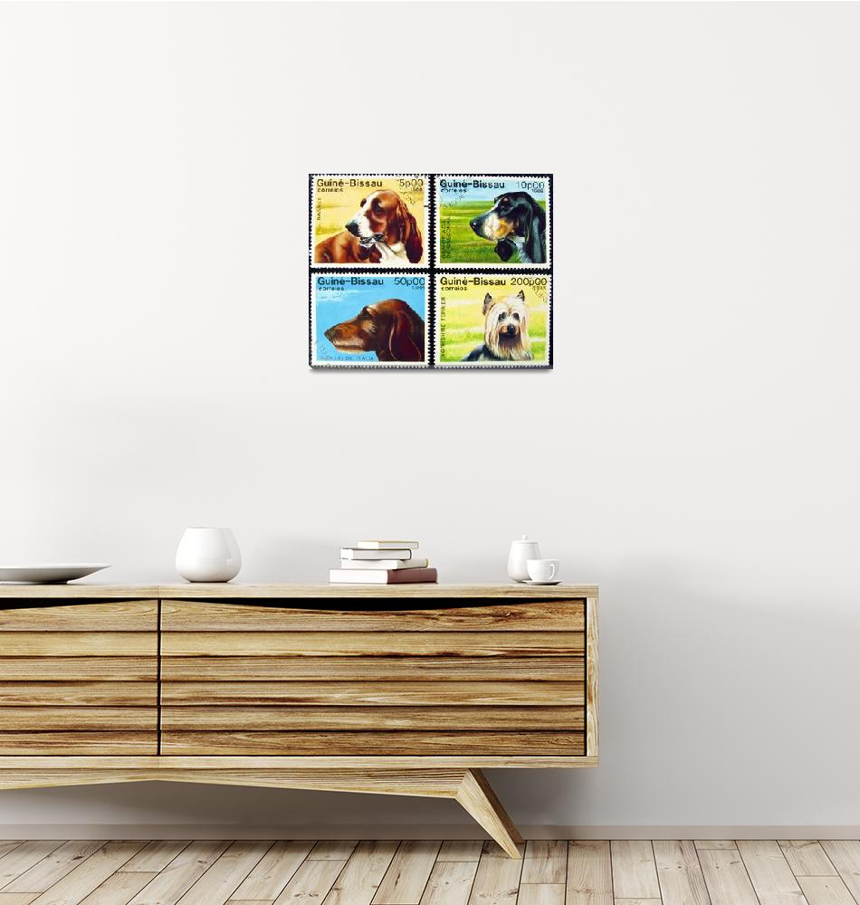 """""""Collection of dog stamps.""""  by FernandoBarozza"""