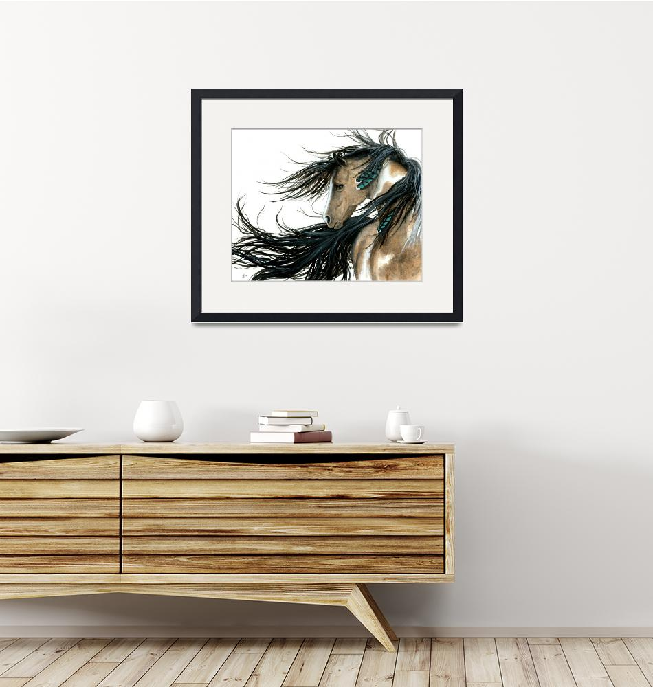 """""""Turquoise Feathers Horse"""" by AmyLynBihrle"""
