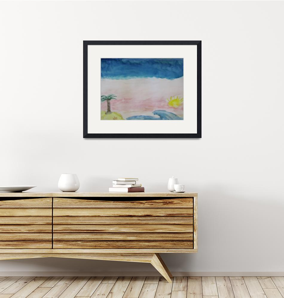 """""""Sky and Beach Painting""""  (2009) by kristysphotography"""