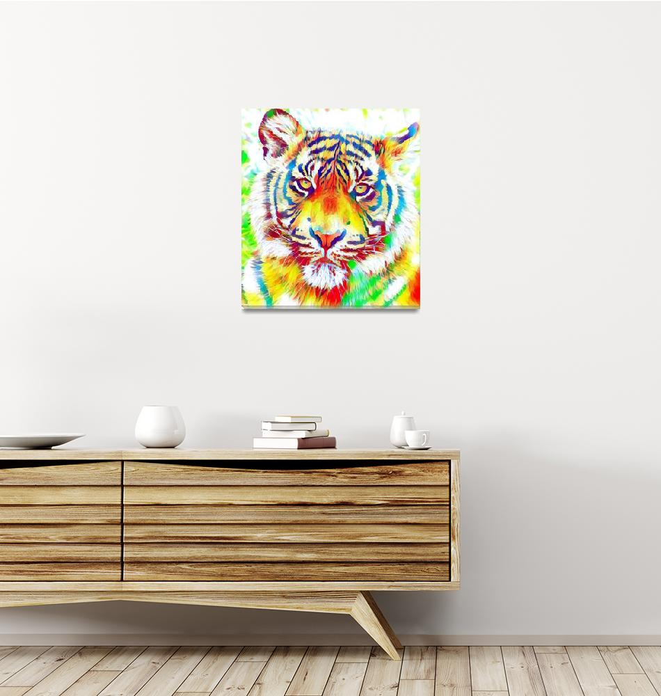 """""""Colorful Tiger""""  by rogueart"""