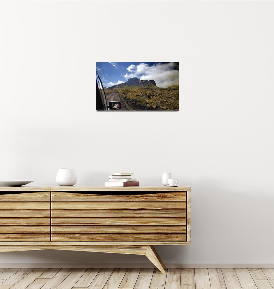 """Iceland Dirt Road Scenery""  (2013) by BobGundersen"