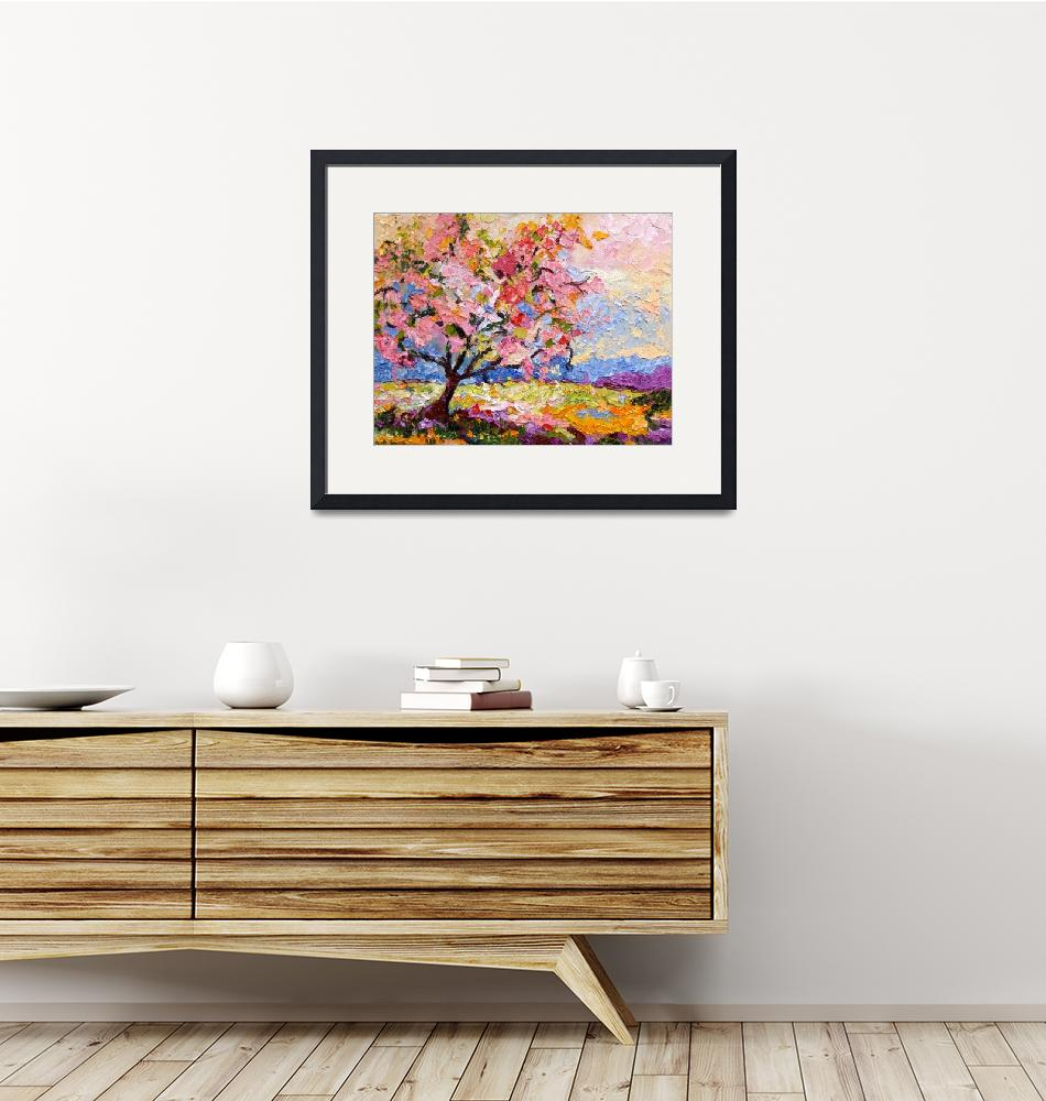 """""""Pink Blossom Tree Oil Painting by Ginette Callaway""""  (2008) by GinetteCallaway"""