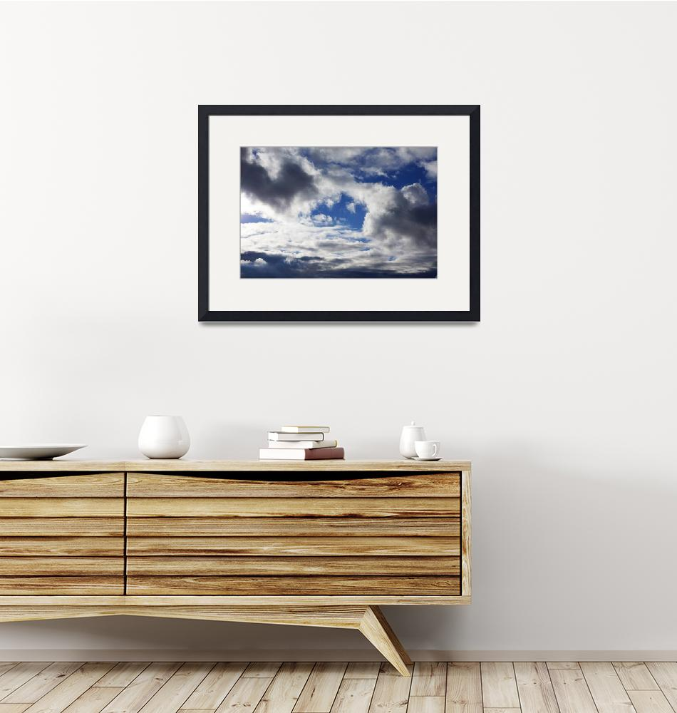 """Storm Clouds Art Prints Blue Sky Weather""  (2014) by BasleeTroutman"