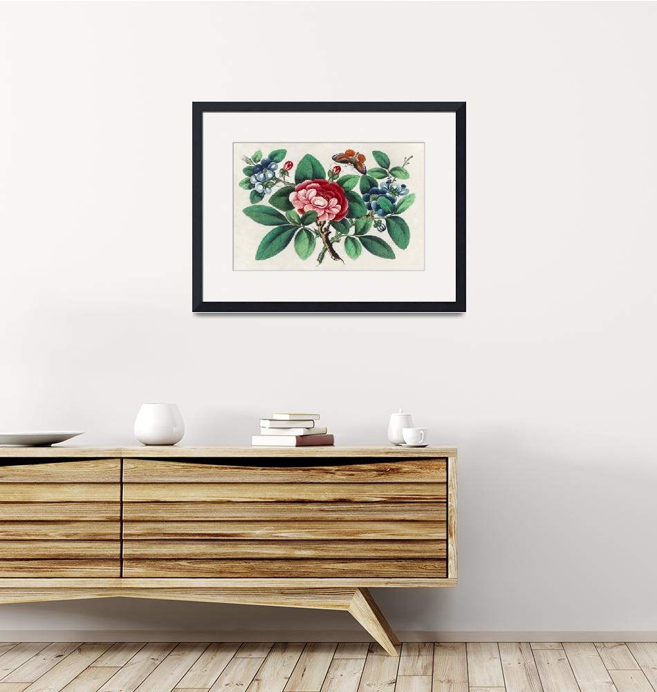 """""""Chinese Floral Painting""""  by FineArtClassics"""