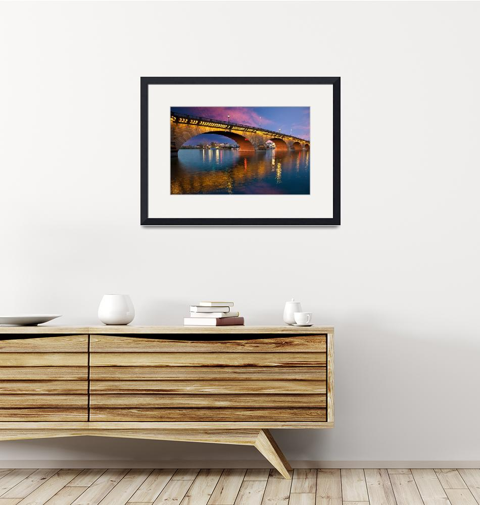 """The London Bridge in Lake Havasu""  by pbk"