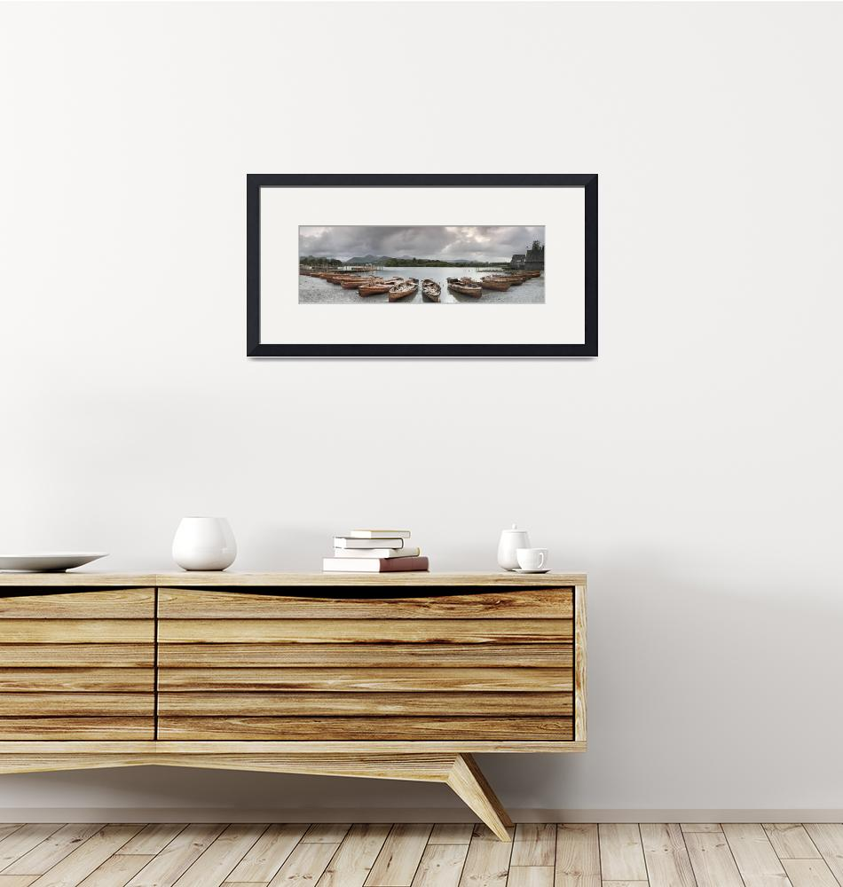 """""""Boats in a lake in Derwent Water"""" by Panoramic_Images"""
