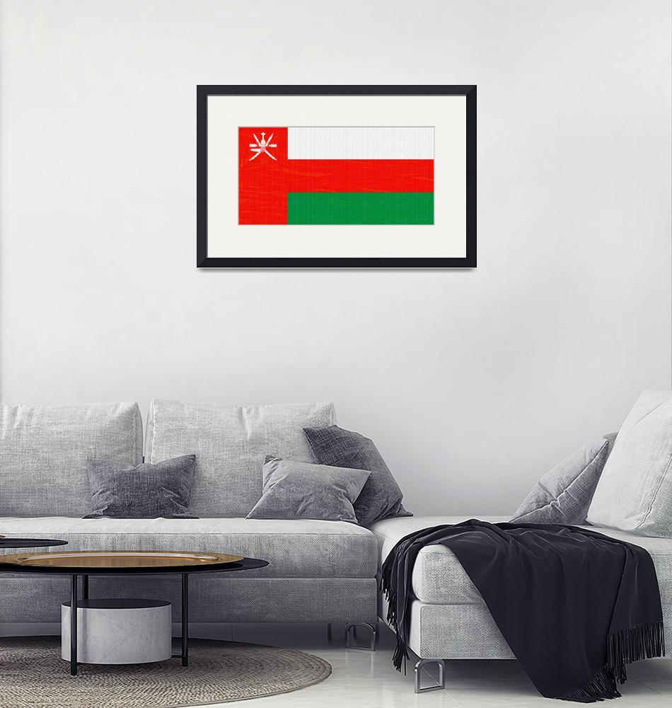 """""""Flag of Oman ,  County Flag Painting ca 2020 by Ah""""  by motionage"""