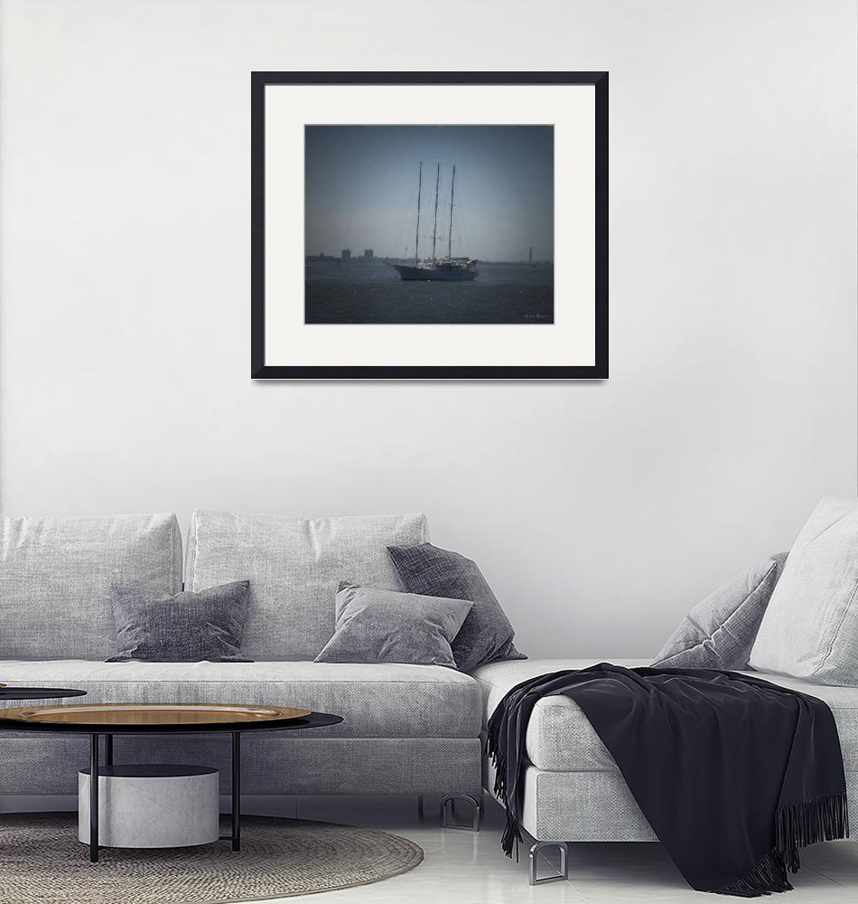 """""""Sailing in the Harbor""""  (2019) by LouiseReeves"""