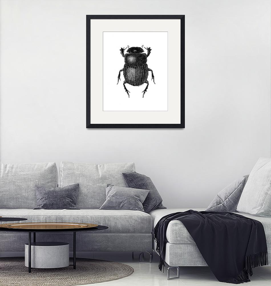 """dungbeetle-edited9x11in-gray""  (2016) by lanakoepkejohnson"