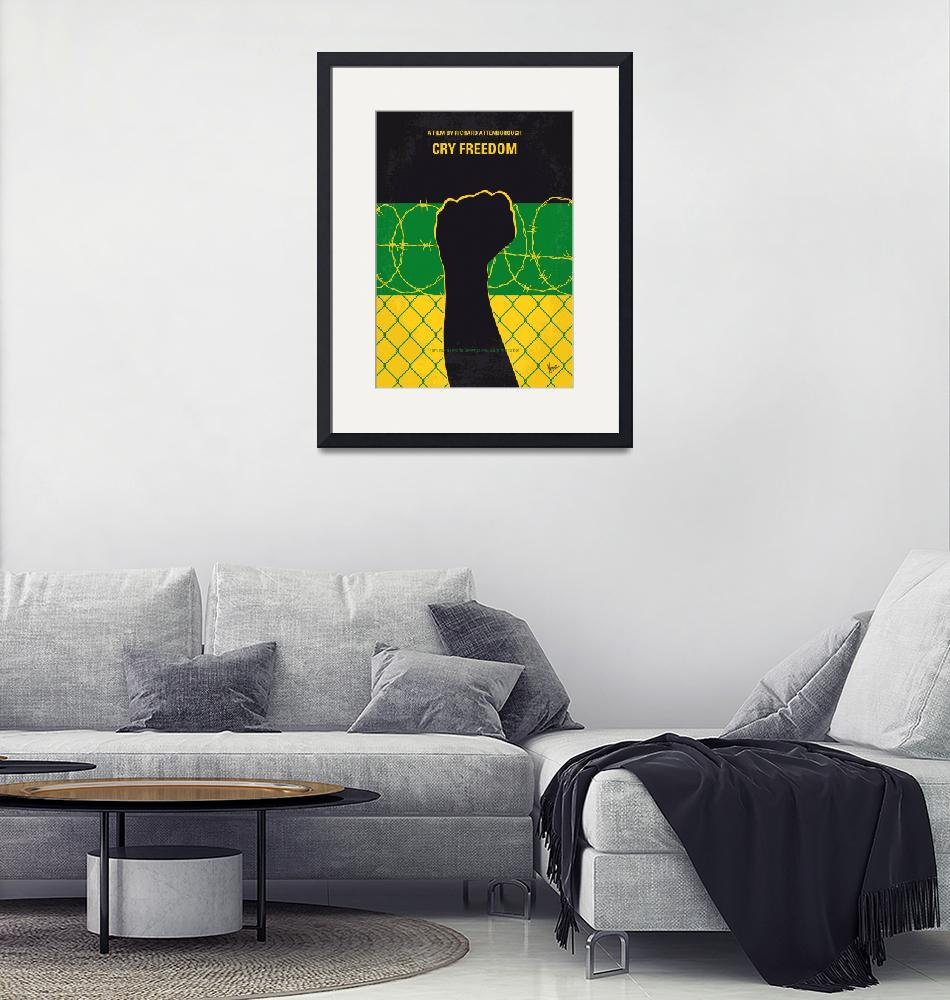 """""""No1104 My Cry Freedom minimal movie poster""""  by Chungkong"""