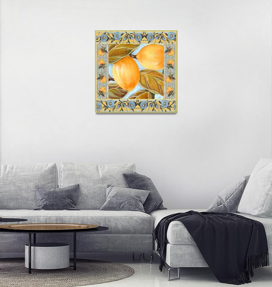 """Provence Garden Lemon""  (2004) by MargaretLeVanDesigns"