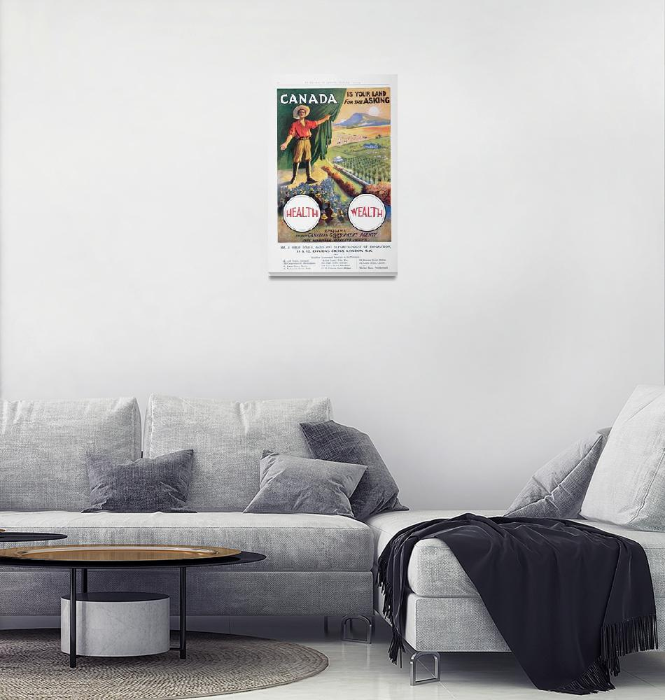 """""""Vintage Poster Promoting Canada""""  by fineartmasters"""