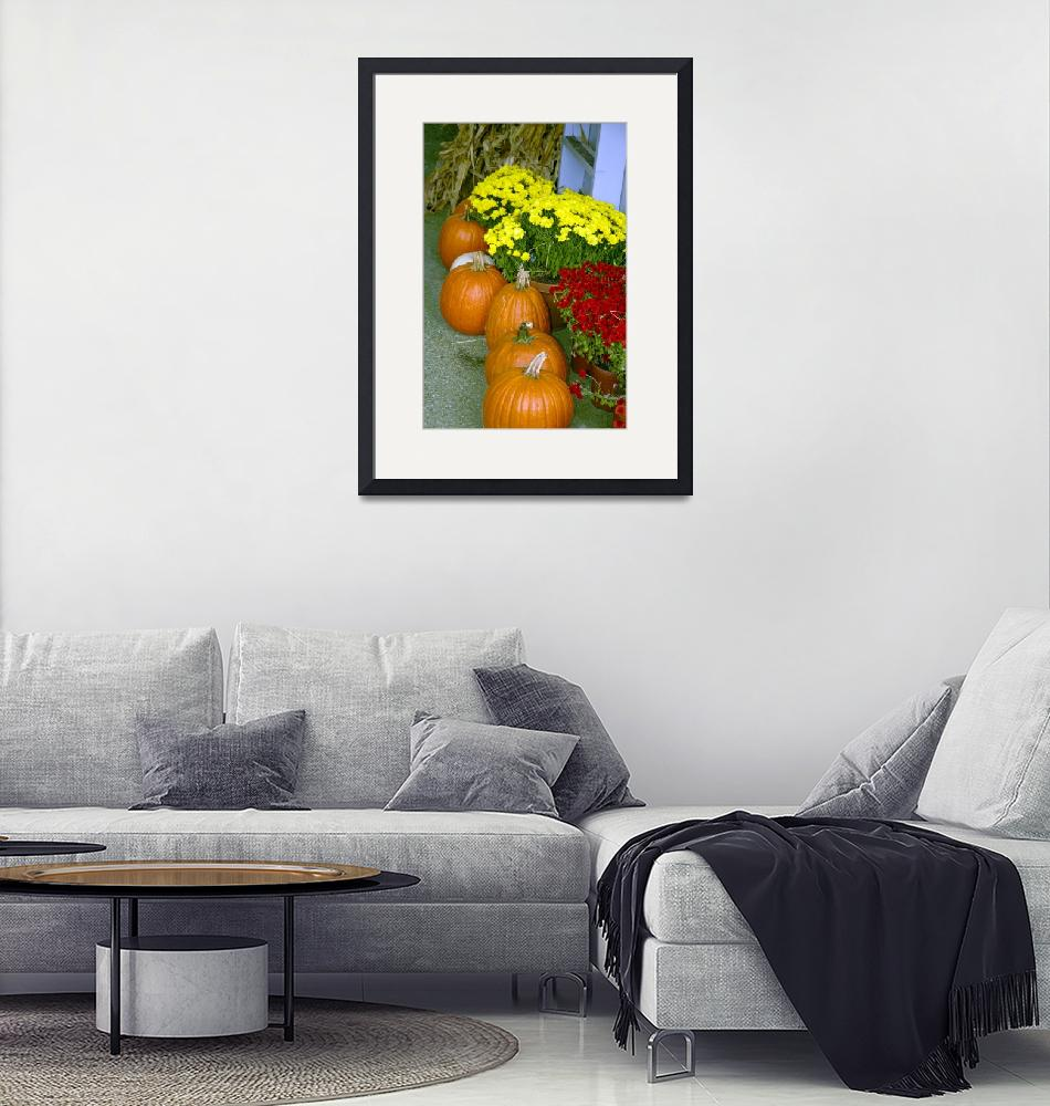 """""""Fall Pumpkins and Chrysanthamums 8955""""  by CooperSlay"""