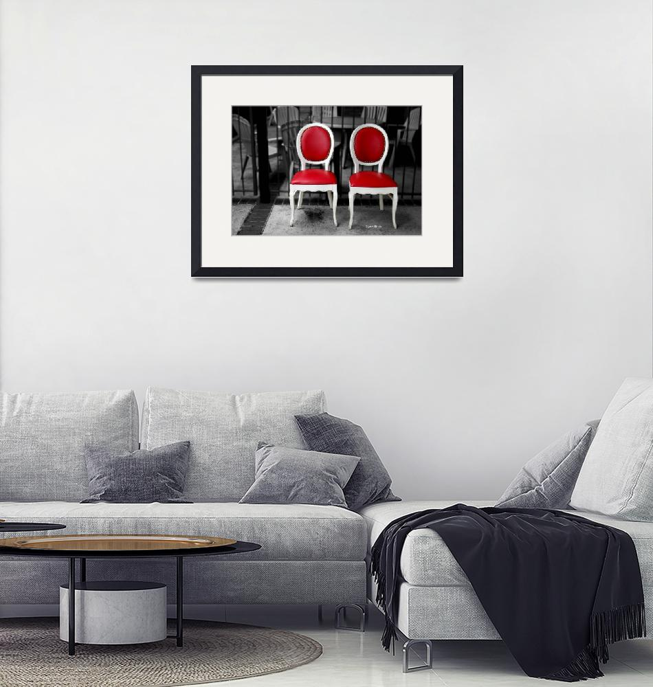 """""""Red and White Chairs""""  by paintapixel"""