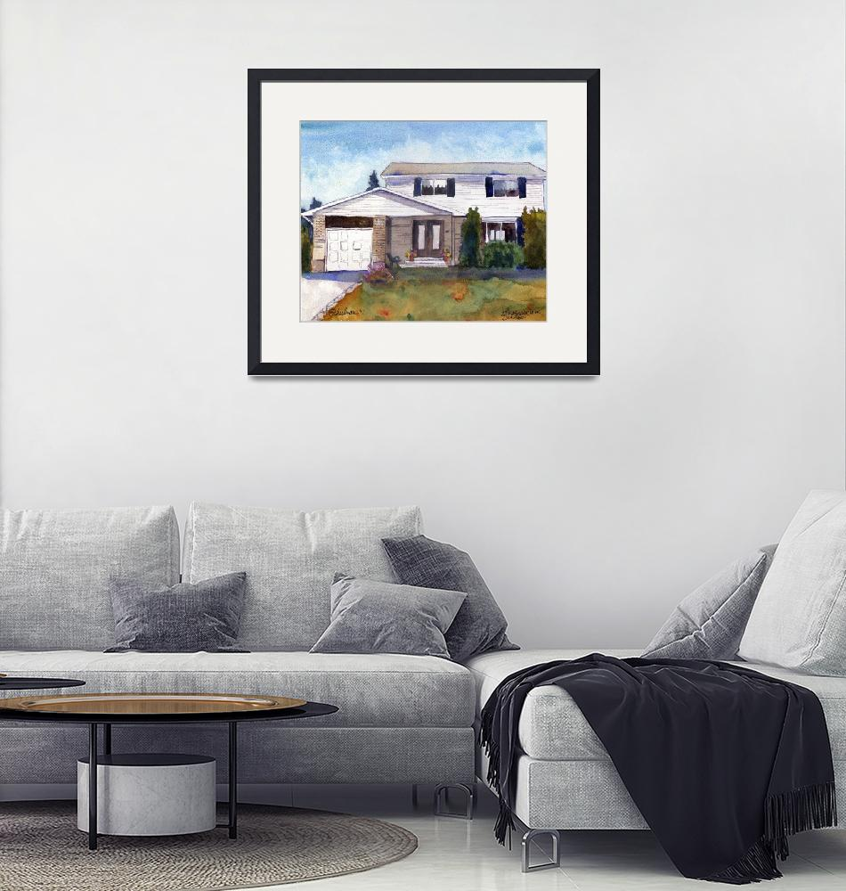 """""""Painting from Photo, House Portrait 22 Martingrove""""  by schulmanart"""