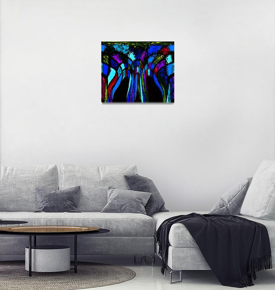 """""""Colors and Black Flow""""  (2012) by KsWorldArt"""