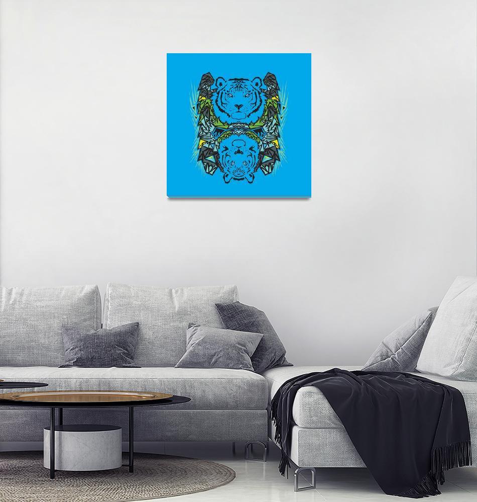 """Tigers - Blue""  (2013) by Ornaart"