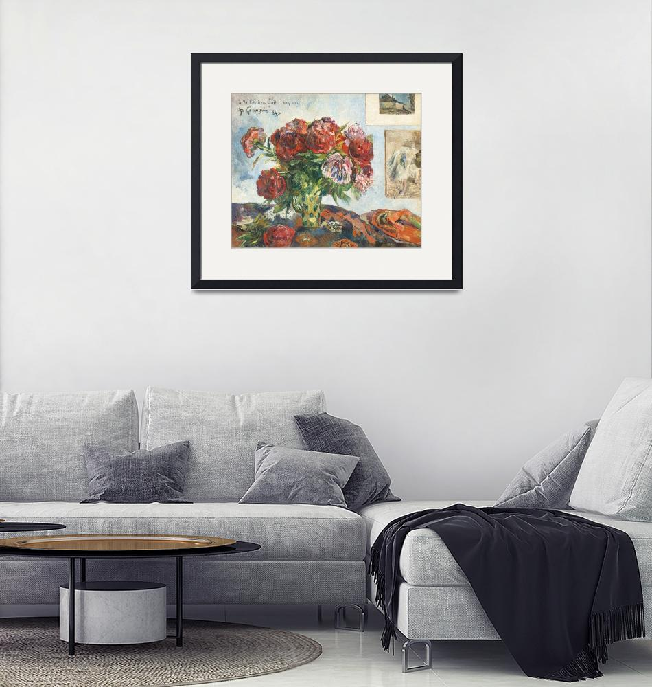 """""""Still Life with Peonies by Paul Gauguin"""" by FineArtClassics"""