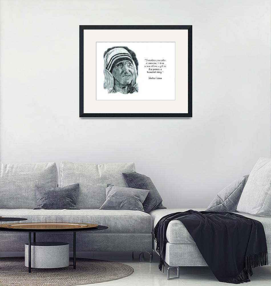 """""""Inspirational Portrait of Mother Teresa""""  by CreativeArtisticNuance"""