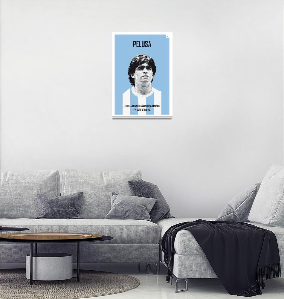 """My MARADONA soccer legend poster"" by Chungkong"