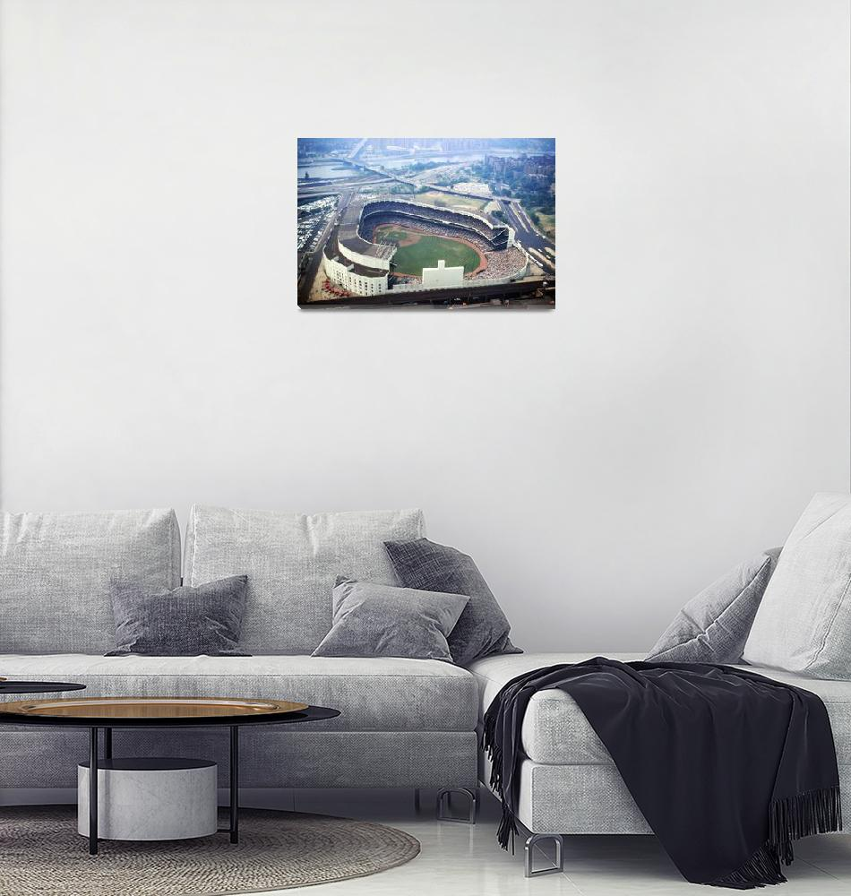 """""""Yankee Stadium as viewed from above""""  by RetroImagesArchive"""
