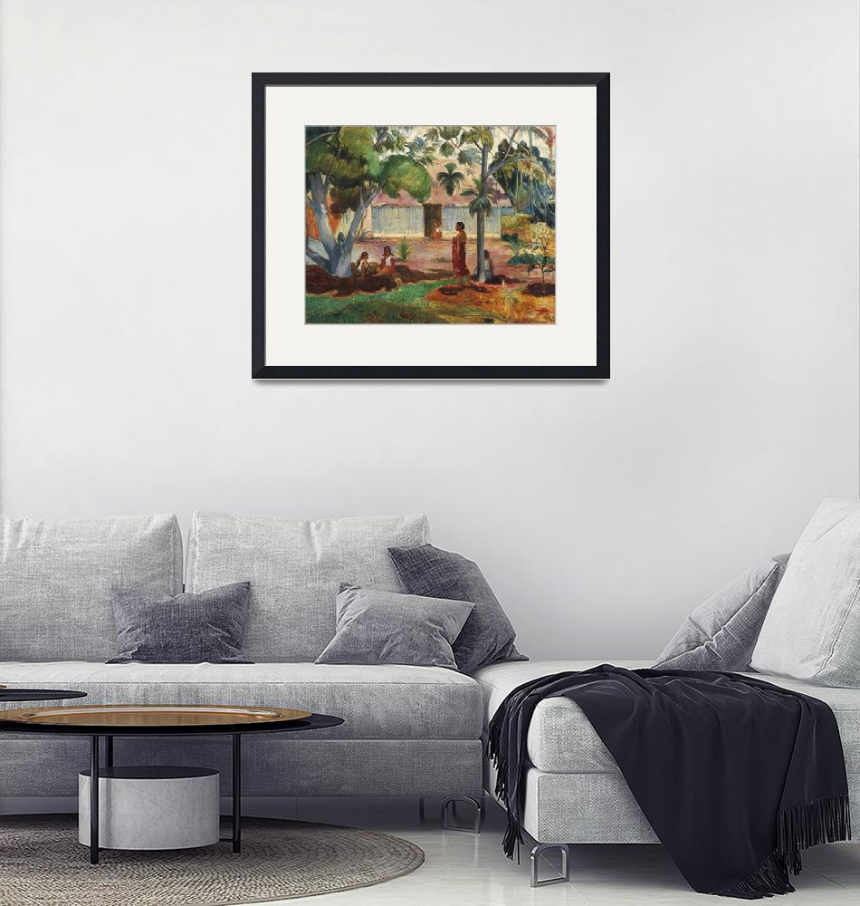 """""""The Large Tree by Paul Gauguin""""  by FineArtClassics"""