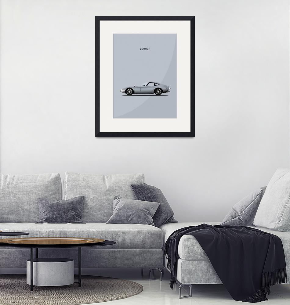 """""""The Toyota 2000GT""""  (2004) by mark-rogan"""