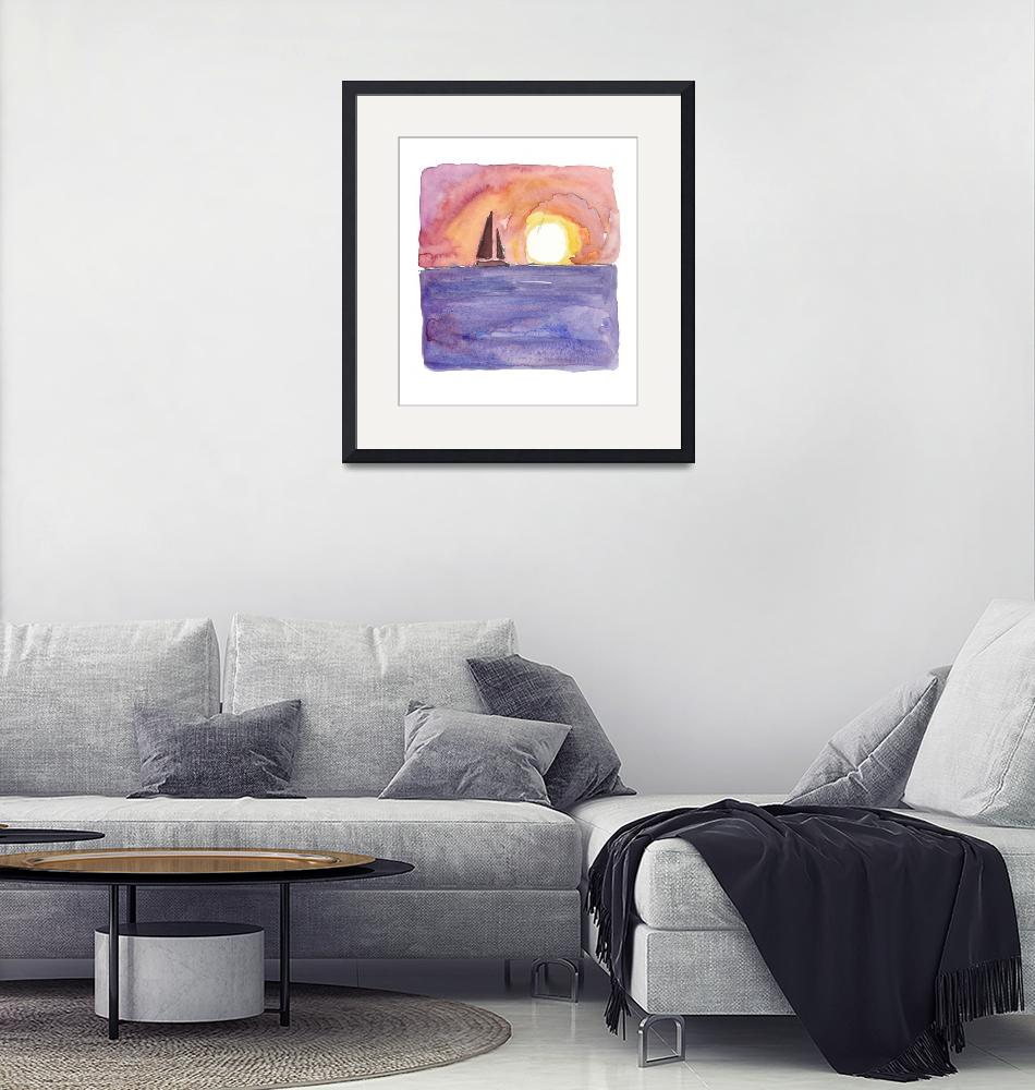 """""""Key West Florida Conch Dreams Mallory Square Sunse""""  (2019) by arthop77"""