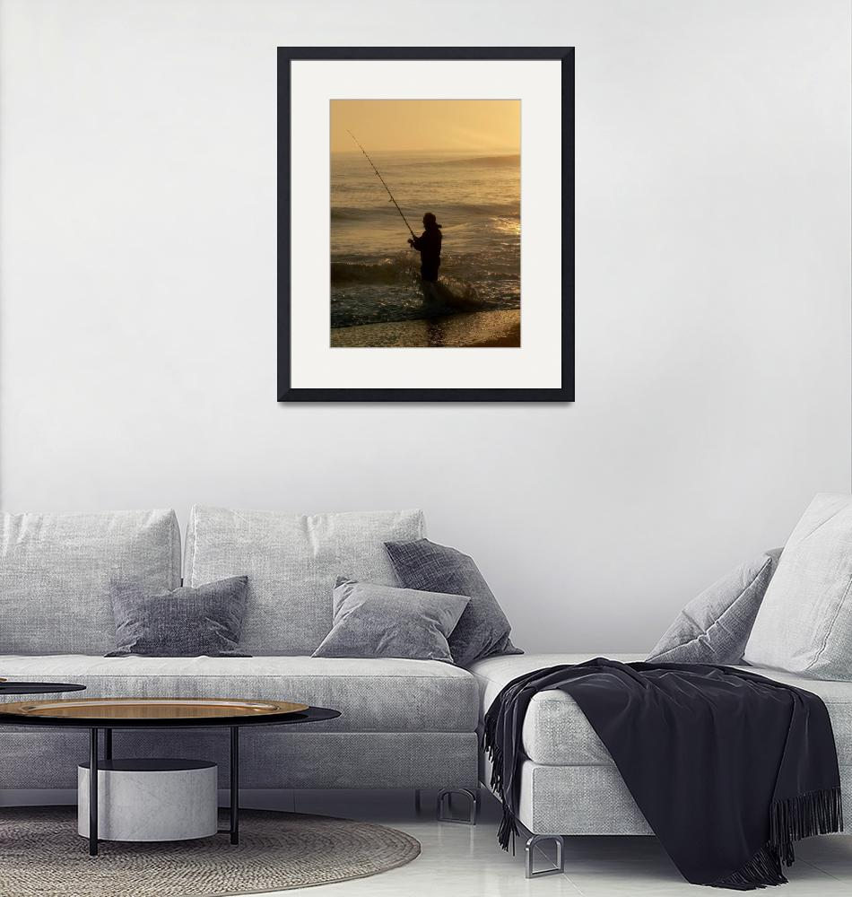 """""""Surf Fishing  at Sunrise""""  (2007) by rayjacque"""