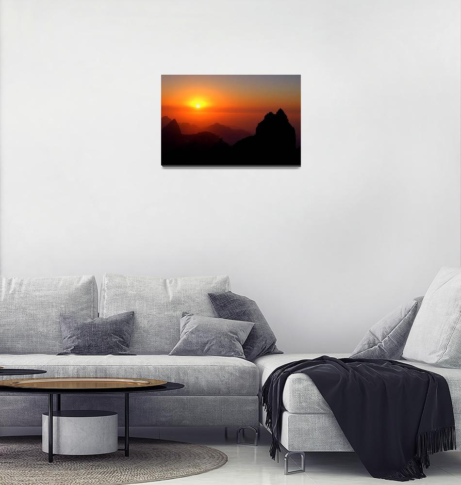 """""""Sunset in mountains""""  (2006) by savenkov"""