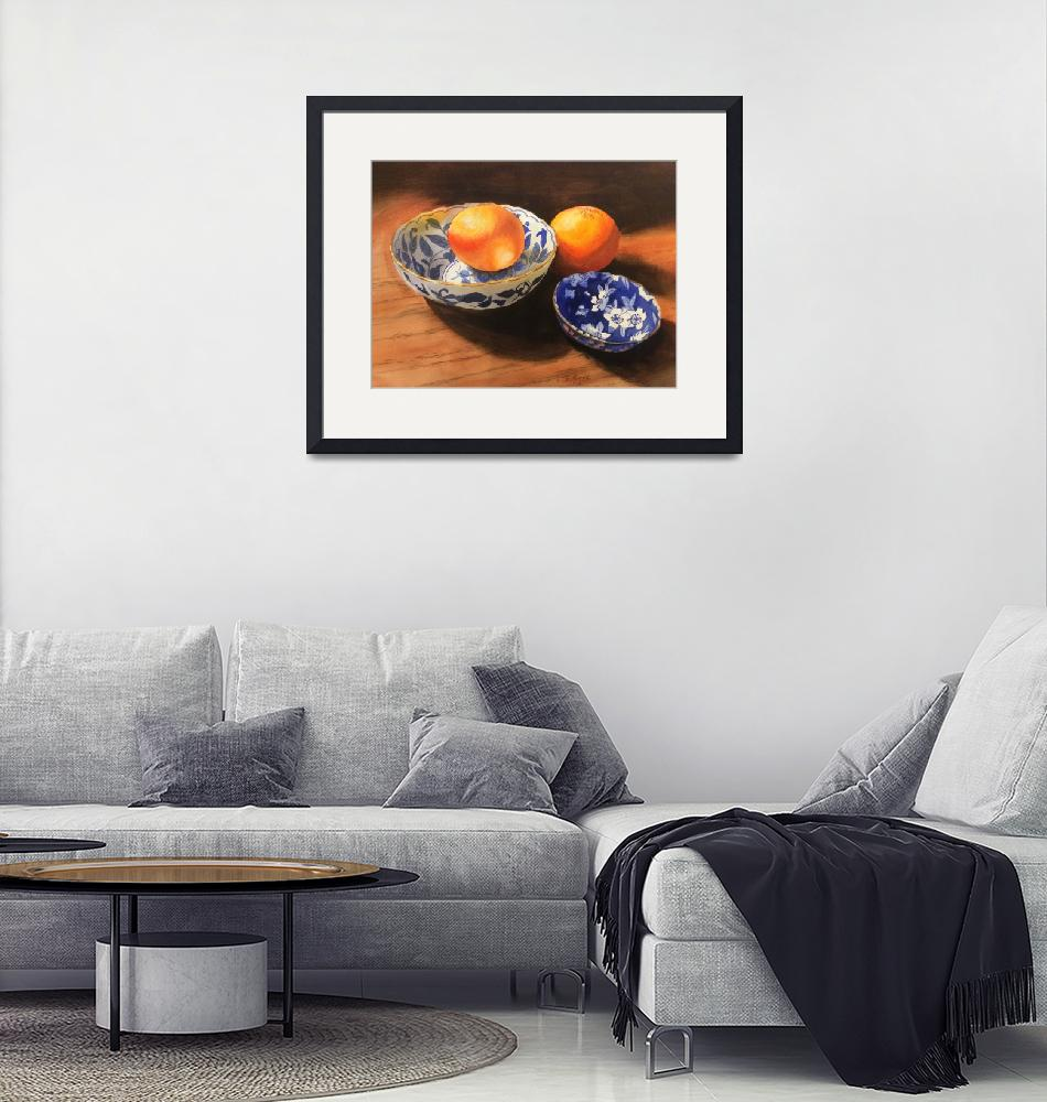 """Oranges with blue ware""  (2016) by Paintz"