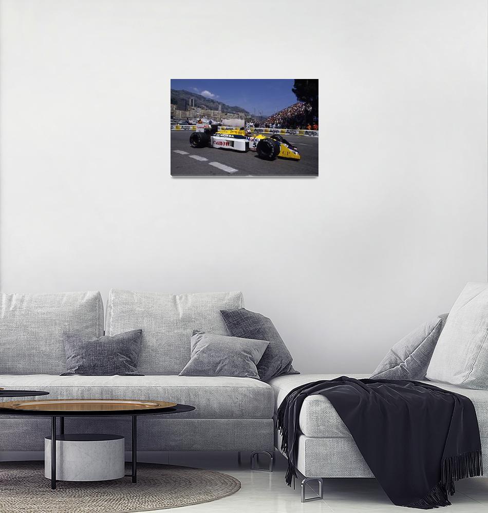 """Nigel Mansell. 1987 Monaco Grand Prix""  (1987) by legko"