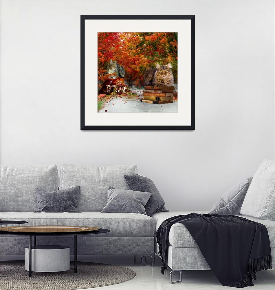 """""""The Cat Guardians in Autumn""""  (2015) by AnneVis"""