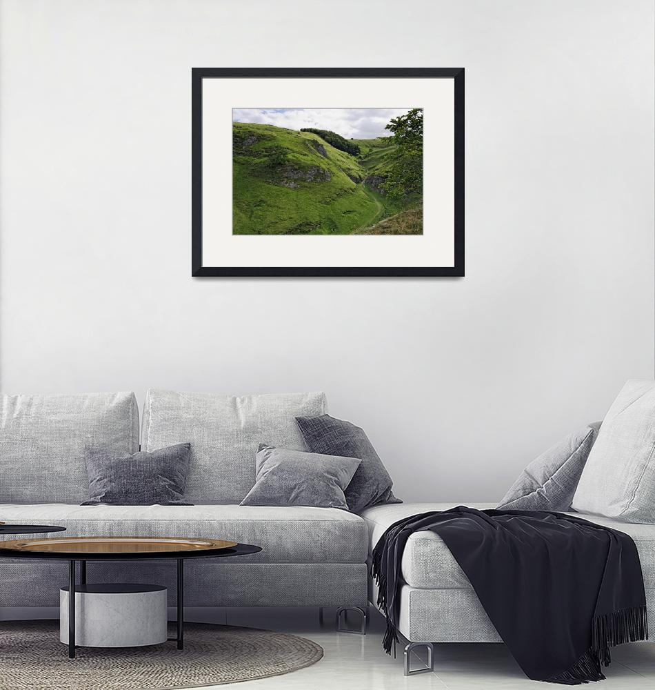 """""""Cave Dale from Peveril Castle (39495-RDA)""""  (2013) by rodjohnson"""