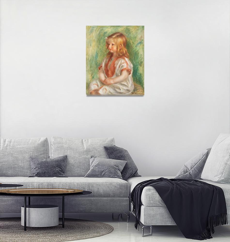 """Claude Renoir by Renoir""  by FineArtClassics"