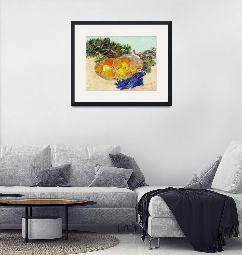 """Oranges and Lemons with Blue Gloves by Van Gogh""  by FineArtClassics"
