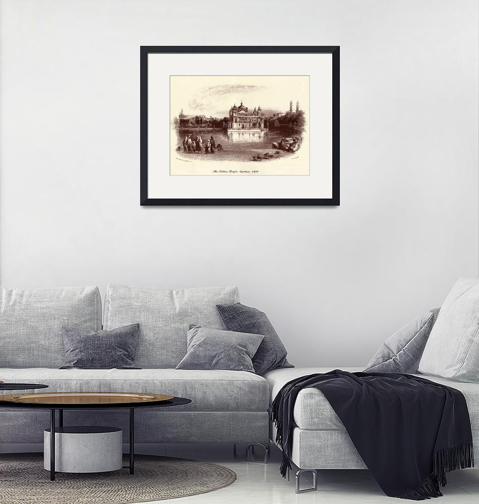 """""""Golden Temple Etching""""  by SikhPhotos"""